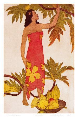 Breadfruit, Royal Hawaiian Hotel Menu Cover c.1950s