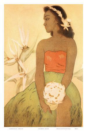 Hula Dancer, Royal Hawaiian Hotel Menu Cover c.1950s