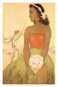 Hula Dancer, Royal Hawaiian Hotel Menu Cover c.1950s by John Kelly