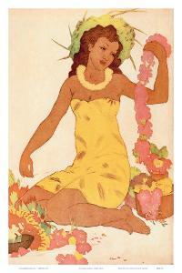 Leimaker, Royal Hawaiian Hotel Menu Cover c.1950s by John Kelly