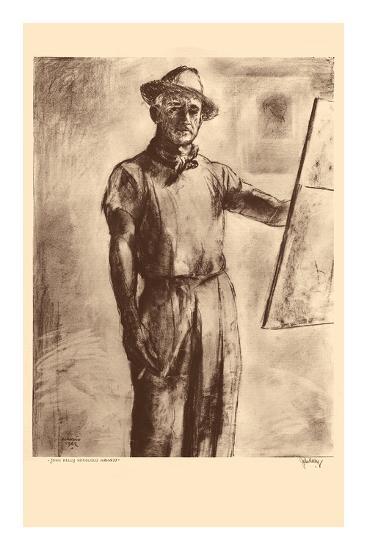 John Kelly Self Portrait - Honolulu Hawaii - from Etchings and Drawings of Hawaiians-John Melville Kelly-Premium Giclee Print