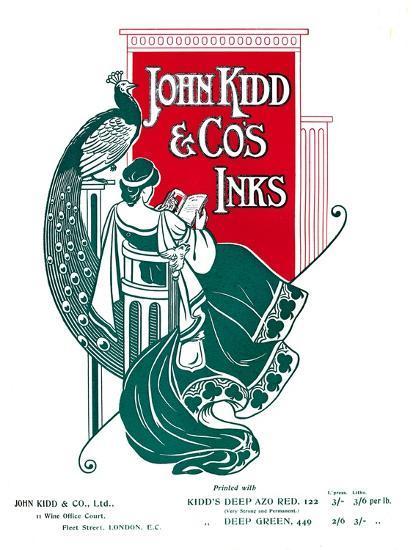 'John Kidd & Co's Inks advert', 1907-Unknown-Giclee Print