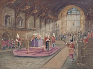 The Laying In State of Her Majesty the Queen Mother by John King