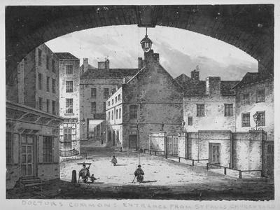 View of the Doctors' Commons Entrance from St Paul's Churchyard, City of London, 1800