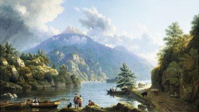 Boatmen on Loch Katrine by John Knox