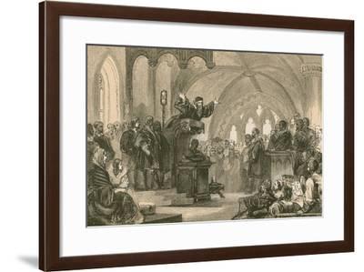 John Knox Preaching at St. Andrews--Framed Giclee Print
