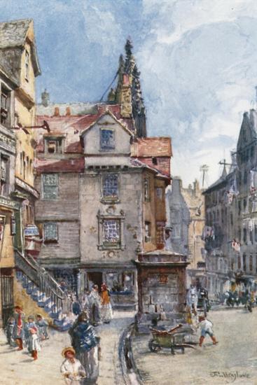 John Knox's House, High Street-John Fulleylove-Giclee Print