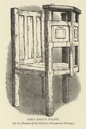 John Knox's Pulpit--Giclee Print