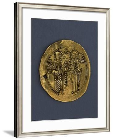 John Komnenos Aureus, Usurper of Byzantine Empire, Verso, Byzantine Coins, 12th Century--Framed Giclee Print