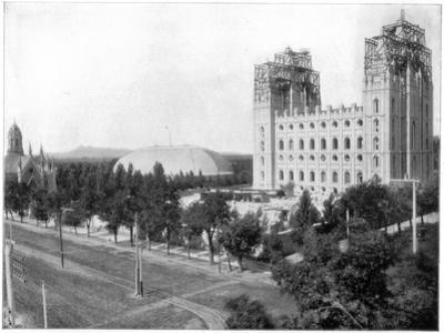 New Mormon Temple, Salt Lake City, Utah, Late 19th Century by John L Stoddard