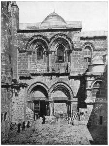 The Church of the Holy Sepulchre, Jerusalem, Late 19th Century by John L Stoddard
