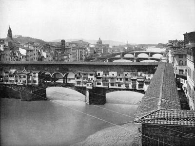 The Ponte Vecchio, Florence, Italy, 1893