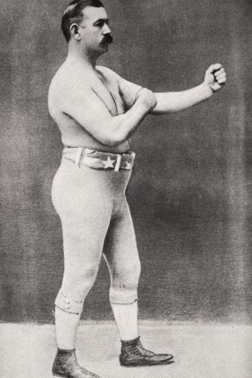 John L Sullivan, American boxer, c1898-Unknown-Photographic Print