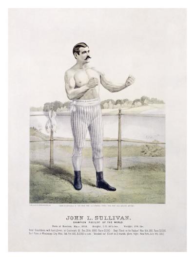 John L. Sullivan, Irish Boxer--Giclee Print