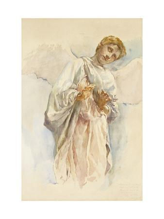 Adoring Angel - Study for the Ascension Mural