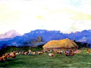Evening Prayer in Devil Country, Fiji, 1891 by John La Farge