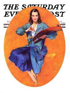 """""""Artist and Her Palette,"""" Saturday Evening Post Cover, September 9, 1933 by John LaGatta"""