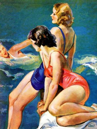 """""""At the Pool,""""August 28, 1937 by John LaGatta"""