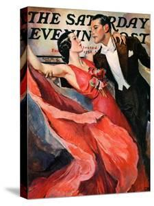 """Ballroom Dancing,"" Saturday Evening Post Cover, April 10, 1937 by John LaGatta"