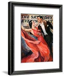 """Ballroom Dancing,"" Saturday Evening Post Cover, April 10, 1937 by John LaGatta"