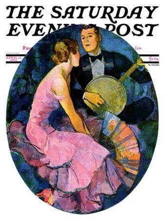 """Banjo Serenade,"" Saturday Evening Post Cover, April 11, 1931"