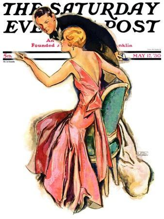 """""""Engaged Couple,"""" Saturday Evening Post Cover, May 17, 1930"""