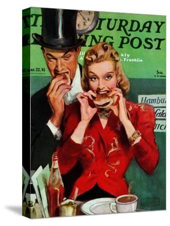 """""""Late Night Snack,"""" Saturday Evening Post Cover, March 22, 1941"""