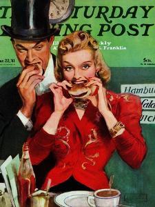 """Late Night Snack,"" Saturday Evening Post Cover, March 22, 1941 by John LaGatta"