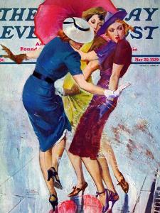 """""""Splashed,"""" Saturday Evening Post Cover, May 20, 1939 by John LaGatta"""