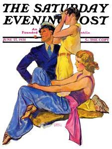 """The Newport Set,"" Saturday Evening Post Cover, June 27, 1931 by John LaGatta"