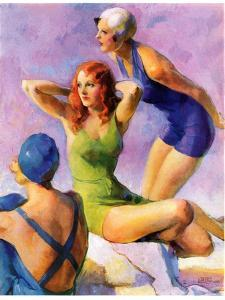 """Three Bathing Beauties,""July 8, 1933 by John LaGatta"