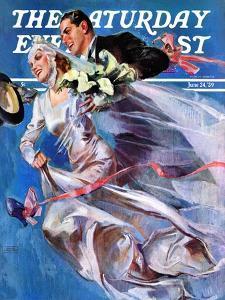 """Wedding Day,"" Saturday Evening Post Cover, June 24, 1939 by John LaGatta"