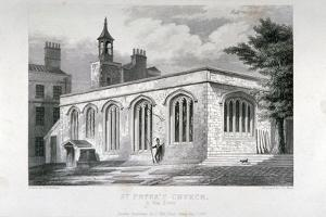 Chapel of Of St Peter Ad Vincula, Tower of London, 1837 by John Le Keux