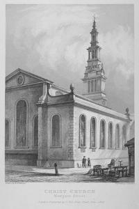 Christ Church, Newgate Street, City of London, 1838 by John Le Keux