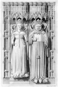 Effigy of Henry IV and His Queen Joan of Navarre in Canterbury Cathedral, 1826 by John Le Keux