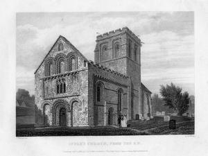Iffley Church from the South-West, Oxfordford, 1834 by John Le Keux