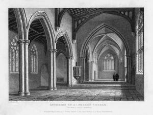 Interior of St Peter's Church, Oxford, 1833 by John Le Keux