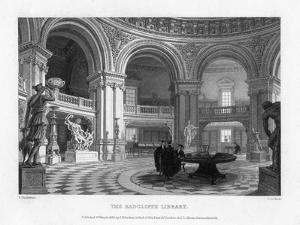 Interior of the Radcliffe Library, Oxford University, 1835 by John Le Keux