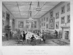 Interior of the Thatched House Tavern, St James's Street, London, C1840 by John Le Keux
