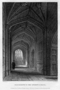 Proscholium to the Divinity School, Oxford, 1836 by John Le Keux