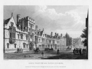 South Front of All Souls College, Oxford University, 1834 by John Le Keux