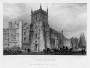 St Botolph's Church, Boston, Lincolnshire, 1842 by John Le Keux