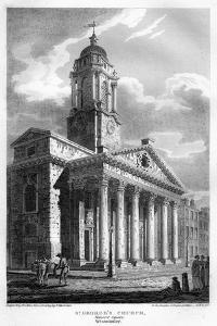 St George's Church, Hanover Square, Westminster, London, 1810 by John Le Keux