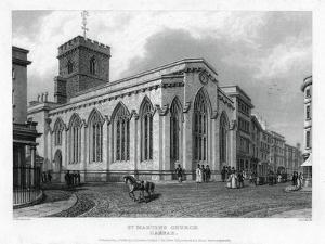 St Martin's Church, Carfax, Oxford, 1835 by John Le Keux