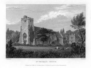 St Thomas's Church, Oxford, 1835 by John Le Keux