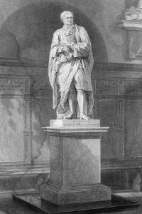 Statue of Sir Isaac Newton, English Mathematician, Astronomer and Physicist, 19th Century by John Le Keux