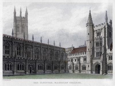 The Cloister, Magdalen College, Oxford University, 19th Century