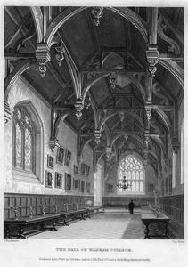 The Hall of Wadham College, Oxford University, 1836 by John Le Keux