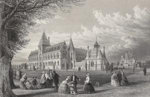 The University Museum: Oxford Almanack for 1860, 1860 by John Le Keux