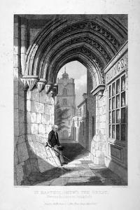 Western Entrance to the Church of St Bartholomew-The-Great, Smithfield, City of London, 1837 by John Le Keux
